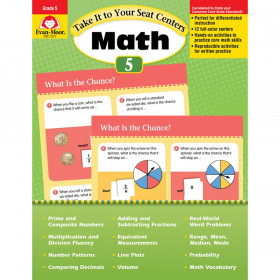 Take It to Your Seat Math Centers Book, Grade 5