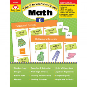 Take It to Your Seat Math Centers Book, Grade 6+