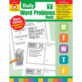 Daily Word Problems Math, Grade 2