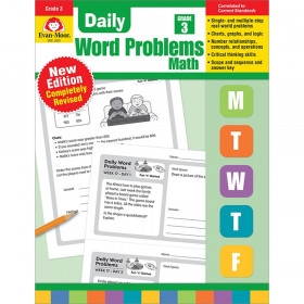 Daily Word Problems Math, Grade 3