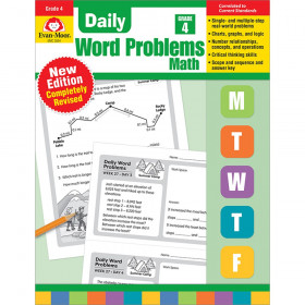 Daily Word Problems Math, Grade 4