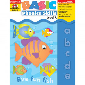 Basic Phonics Skills Book, Grades Pre-K-K (Level A)