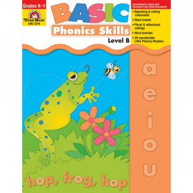 Basic Phonics Skills Book, Grades K-1 (Level B)