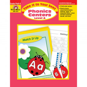 Take It to Your Seat Phonics Centers Book, Grades PreK-K