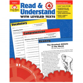 Read and Understand with Leveled Text Book, Grade 4