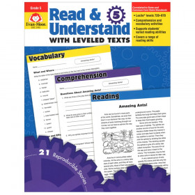 Read and Understand with Leveled Text Book, Grade 5