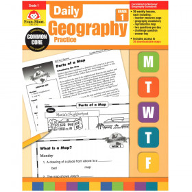 Evan-Moor Daily Geography Practice Book, Grade 1