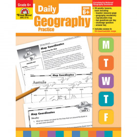 Daily Geography Practice Book, Grade 6+