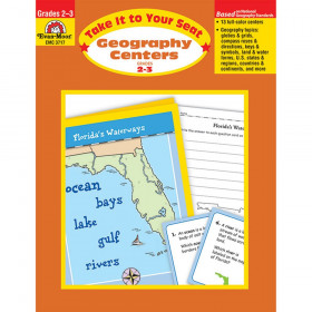 Take It To Your Seat Geography Centers Book, Grades 2-3