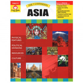 Evan-Moor The 7 Continents: Asia, Grades 4-6+