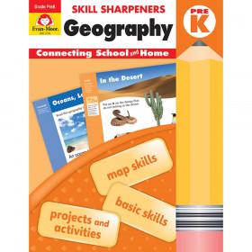 Skill Sharpeners: Geography, Grade PreK - Activity Book