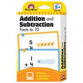 Learning Line: Addition and Subtraction Facts to 10, Grade 1+ (Age 5+) - Flashcards