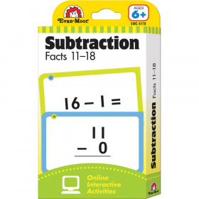 Learning Line: Subtraction Facts 11-18, Grades 1+ (Ages 6+) - Flashcards