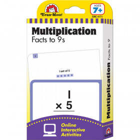 Learning Line: Multiplication Facts to 9s, Grades 2+ (Ages 7+) - Flashcards