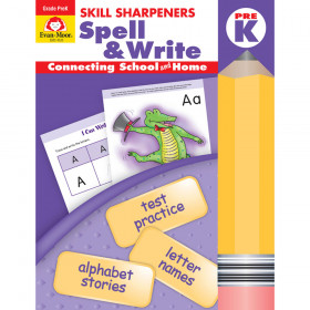 Skill Sharpeners Spell & Write Book, Grade PreK