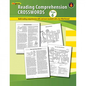 Comprehension Crosswords Book Gr 6