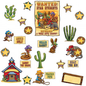 Wanted Star Students Bulletin Board Set