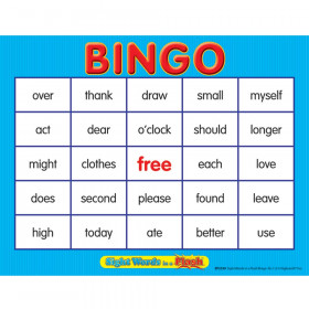 Sight Words In A Flash Bingo Gr 1-2