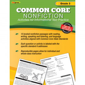 Common Core Nonfiction Book Gr 3
