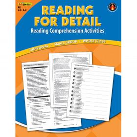 Reading Detail Comprehension Bk Blue Level