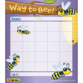Way To Bee Incentive Chart Personal 5 1/4 X 6