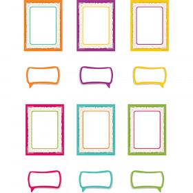 Confetti Frames And Speech Bubbles Accents