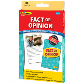 Fact Or Opinion Ylw Lvl Reading Comprehension Practice Cards