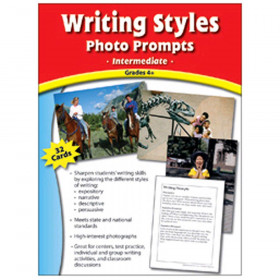 Writing Styles Photo Prompts Gr 4 & Up Mid Level Writing Prompts
