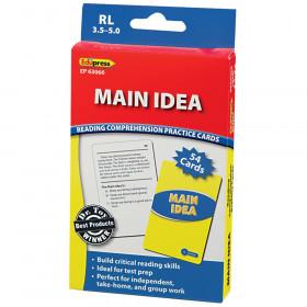 Main Idea Practice Cards, Levels 3.5-5.0