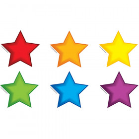 Colorful Stars Bulletin Board Set Accent