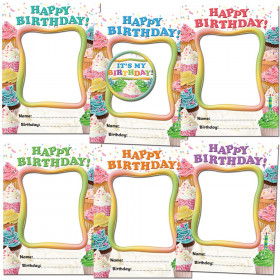 Happy Birthday Cupcakes Frames Accents