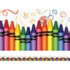 Crayons Layered Border