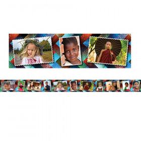 Multicultural Kids Postcards Photo Border