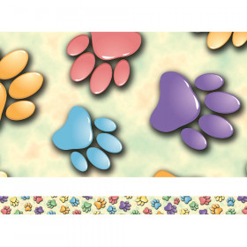 Paw Prints Spotlight Border