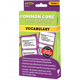Gr 4 Common Core Vocabulary Task Cards