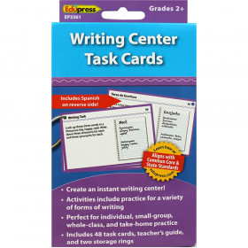Writing Center Task Cards Gr 2 And Up
