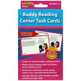 Buddy Reading Center Task Cards Gr 2 And Up