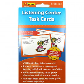 Listening Center Task Cards Gr 2 And Up