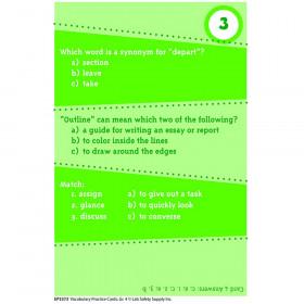 Brain Blasters Vocabulary Practice Cards Gr 4