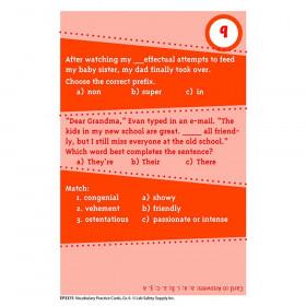 Brain Blasters Vocabulary Practice Cards Gr 6