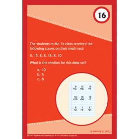 Brain Blasters Math Practice Cards Algebra/Graphing Gr 4-5