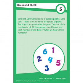 Math Problm Solving Cards Gr 3