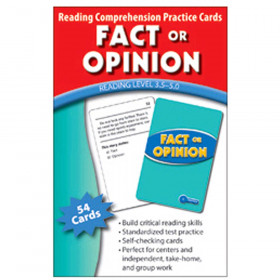 Fact Or Opinion Practice Cards Reading Levels 5.0-6.5