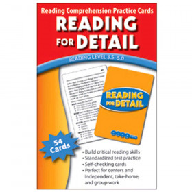 Reading For Detail Practice Cards Reading Levels 5.0-6.5