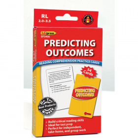 Predicting Outcomes Reading Comprehension Practice Cards Red