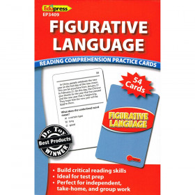 Figurative Language Reading Comprehension Practice Cards Red
