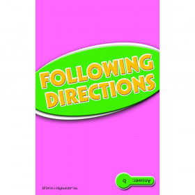 Following Directions Practice Cards Reading Level 5.0-6.5