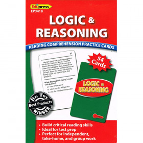 Logic & Reasoning Reading Comprehension Practice Cards Red
