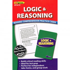 Logic & Reasoning Reading Comprehension Practice Cards Blue