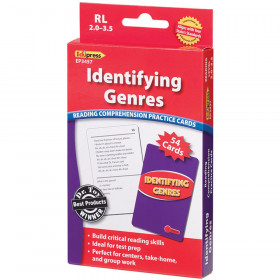 Identifying Genres Reading 2.0-3.5 Comprehension Cards Red Level